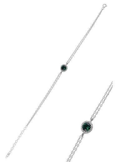 Söğütlü Silver Bileklik Yeşil